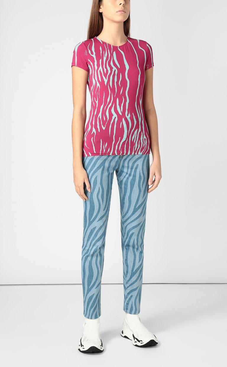 JUST CAVALLI Zebra-stripe-print top Top Woman d