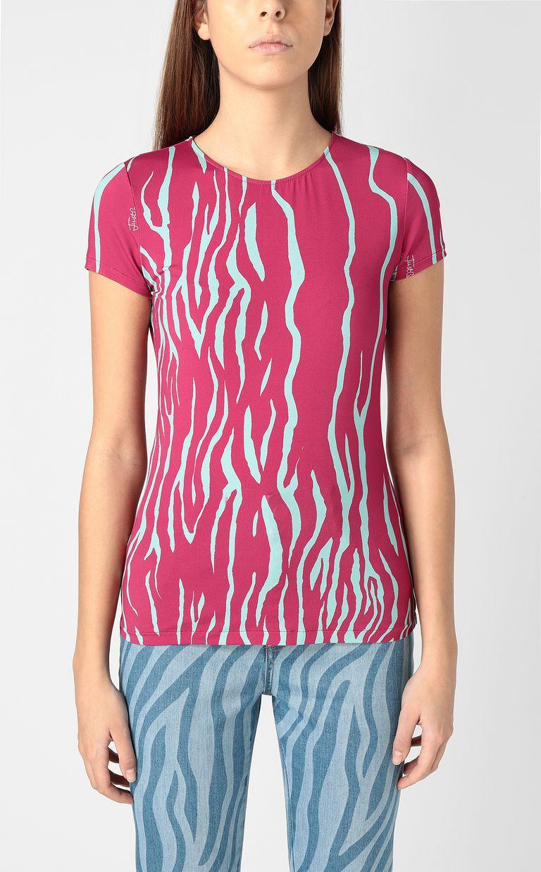 JUST CAVALLI Zebra-stripe-print top Top Woman r