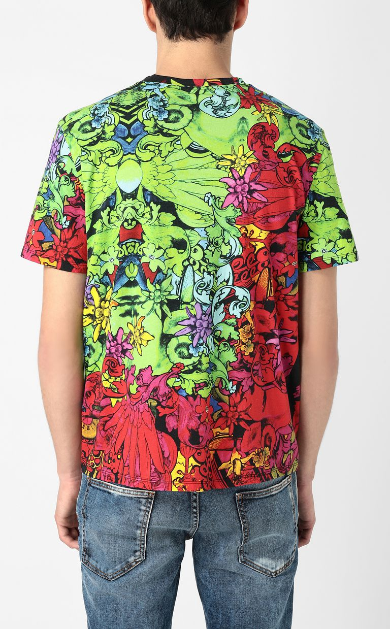 "JUST CAVALLI T-shirt with ""In the Jungle"" print Short sleeve t-shirt Man a"