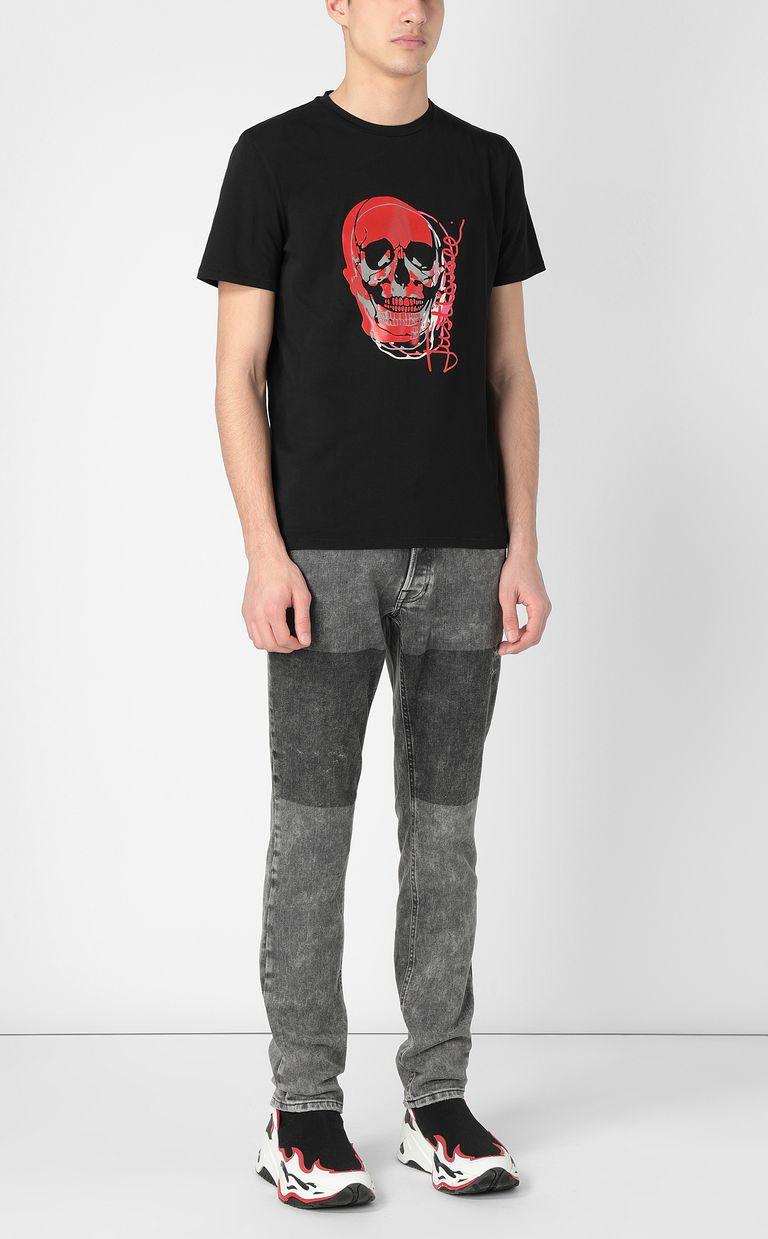 JUST CAVALLI T-shirt with skull Short sleeve t-shirt Man d