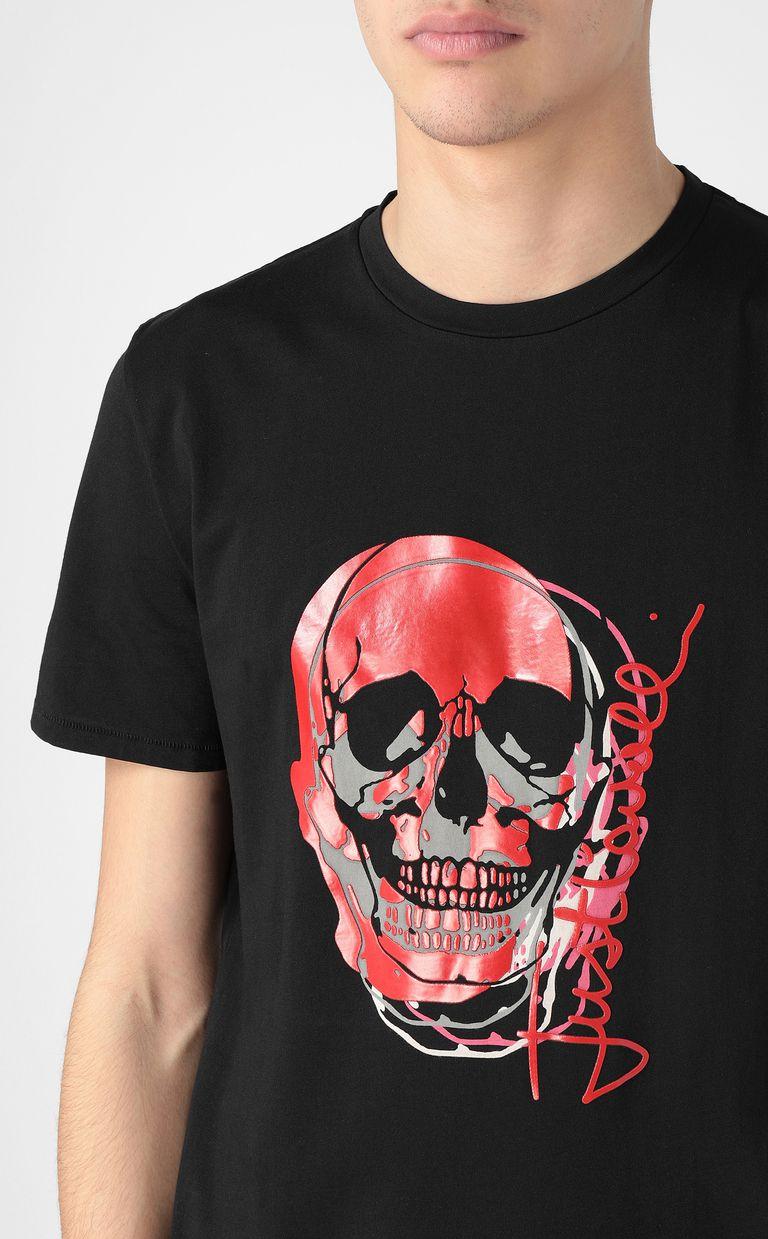 JUST CAVALLI T-shirt with skull Short sleeve t-shirt Man e