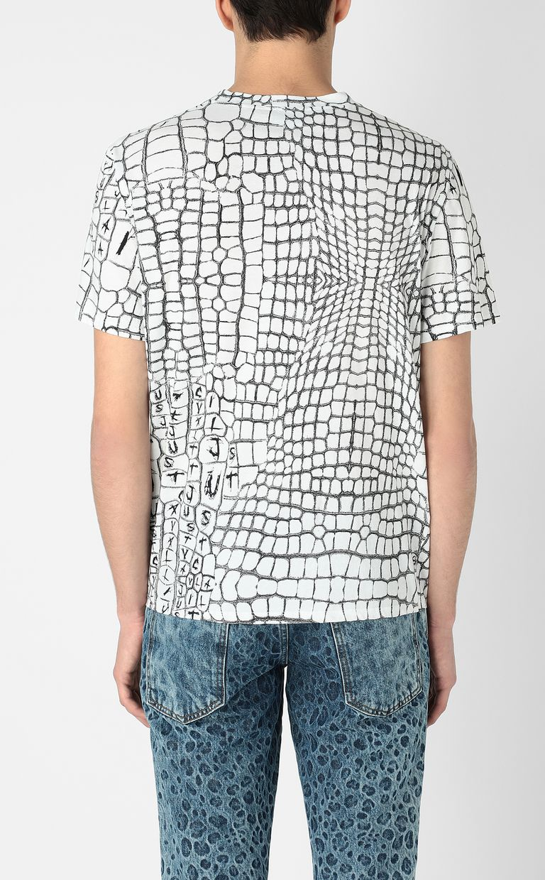 JUST CAVALLI Crocodile-skin-effect t-shirt Short sleeve t-shirt Man a