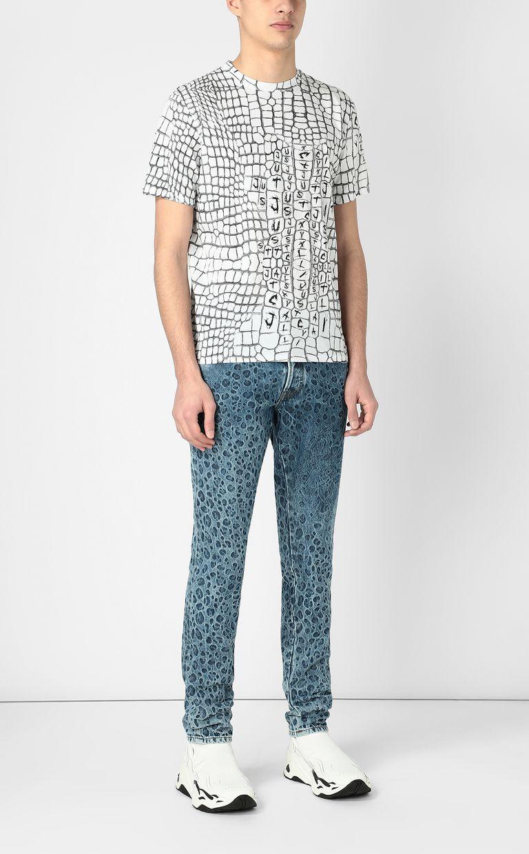 JUST CAVALLI Crocodile-skin-effect t-shirt Short sleeve t-shirt Man d