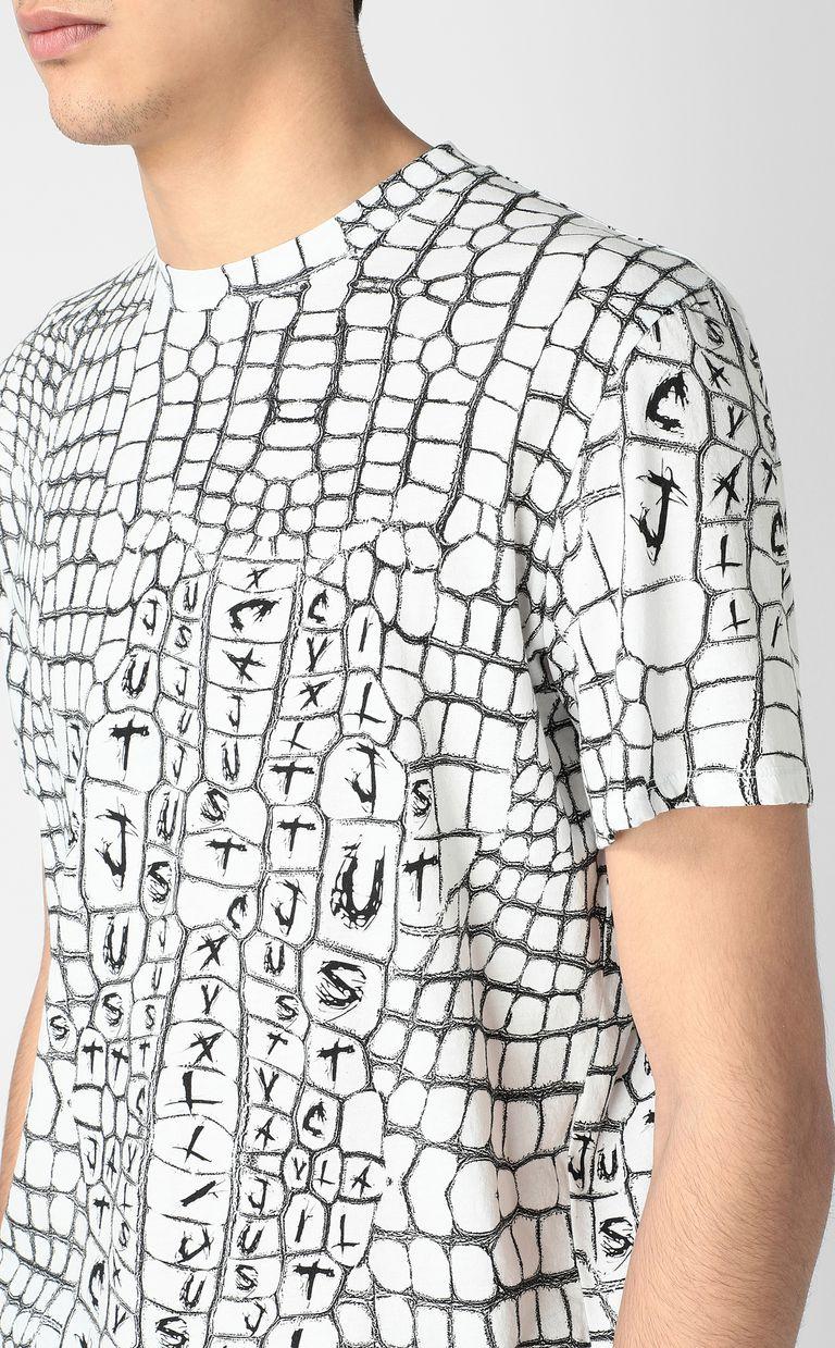 JUST CAVALLI Crocodile-skin-effect t-shirt Short sleeve t-shirt Man e
