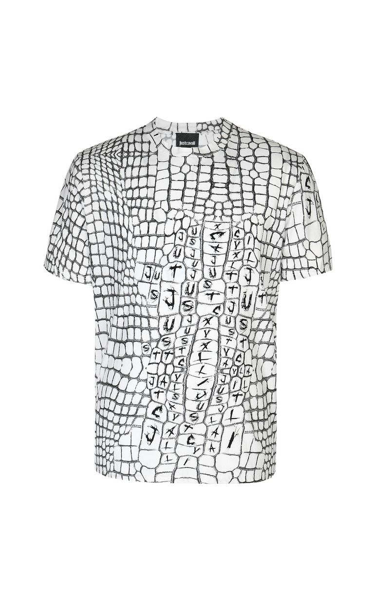 JUST CAVALLI Crocodile-skin-effect t-shirt Short sleeve t-shirt Man f