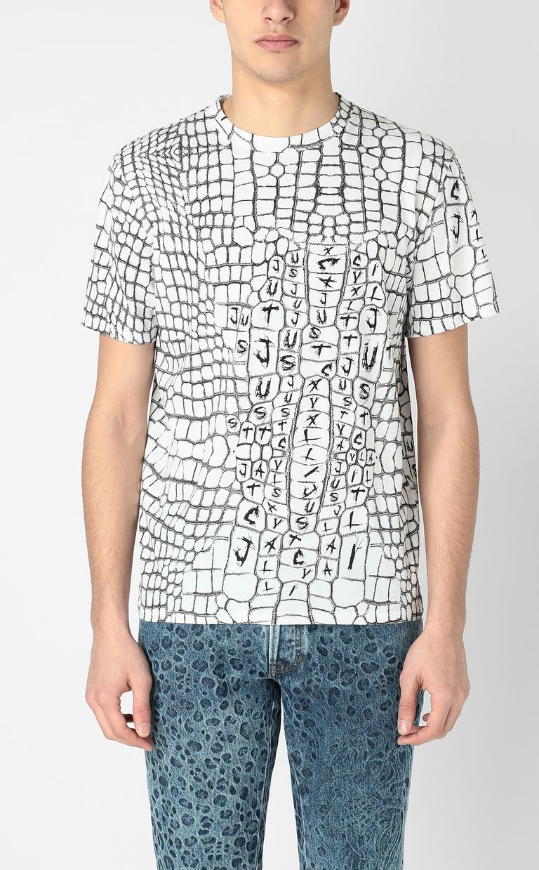 JUST CAVALLI Crocodile-skin-effect t-shirt Short sleeve t-shirt Man r