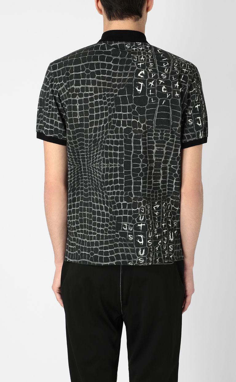 JUST CAVALLI Crocodile-skin-effect polo shirt Polo shirt Man a