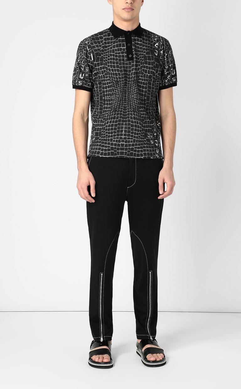 JUST CAVALLI Crocodile-skin-effect polo shirt Polo shirt Man d