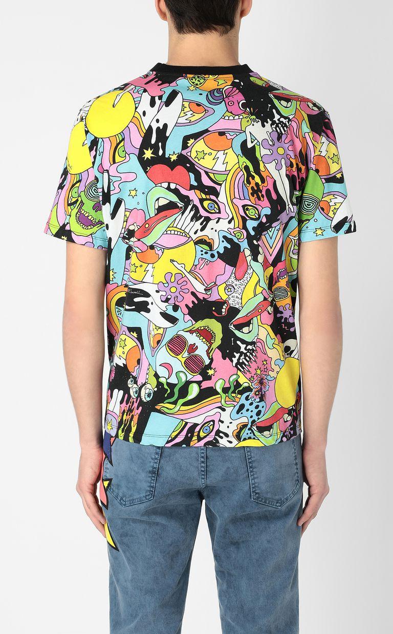 "JUST CAVALLI T-shirt with ""Mash-Up"" print Short sleeve t-shirt Man a"