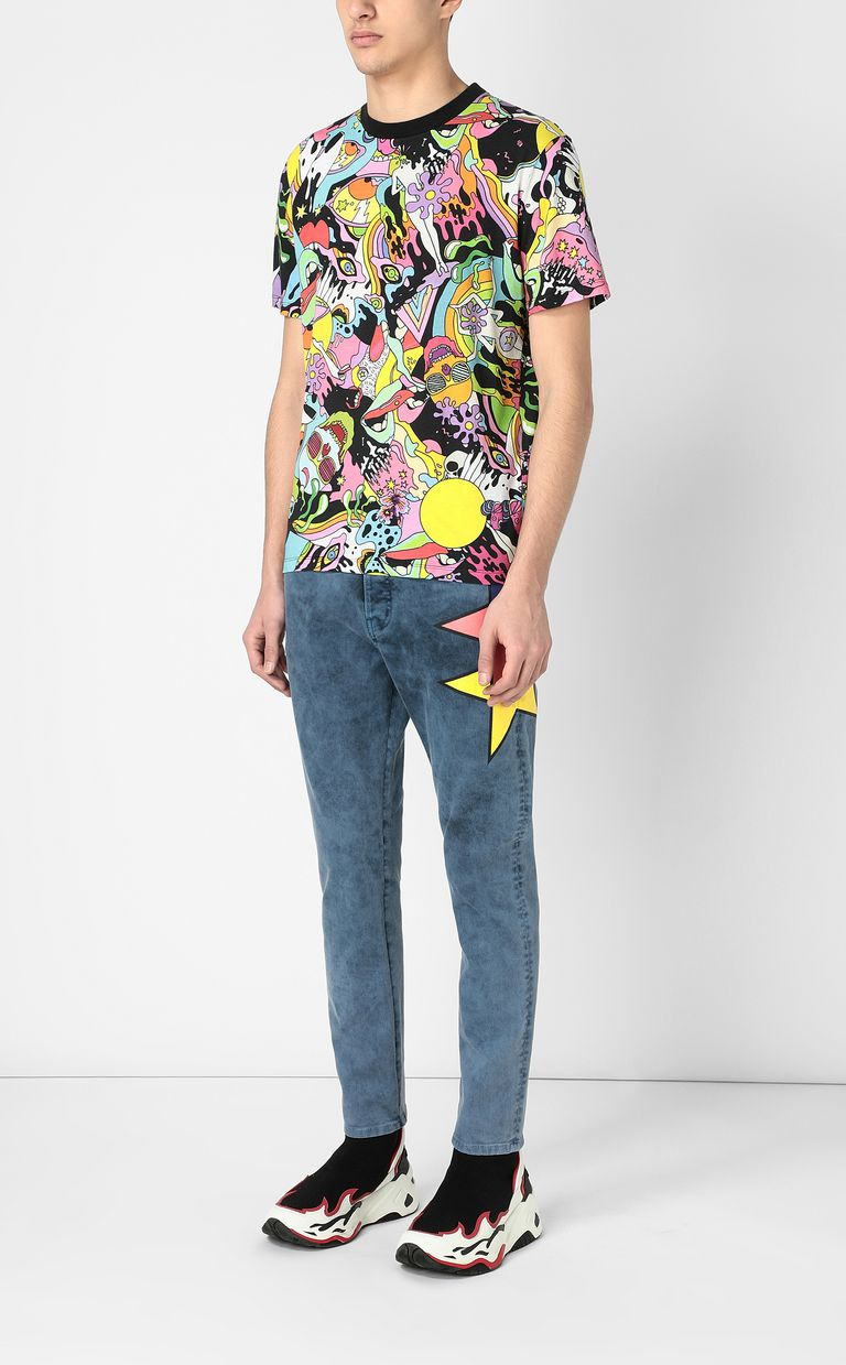 "JUST CAVALLI T-shirt with ""Mash-Up"" print Short sleeve t-shirt Man d"