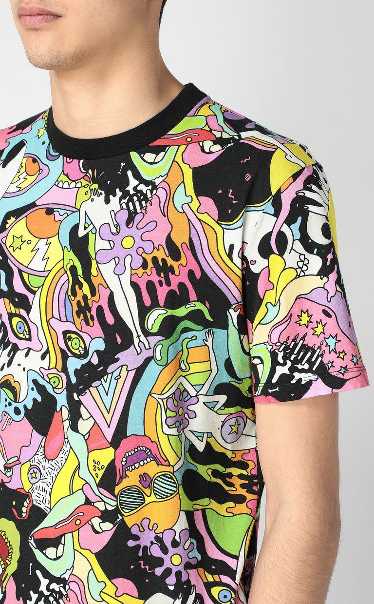 "JUST CAVALLI T-shirt with ""Mash-Up"" print Short sleeve t-shirt Man e"