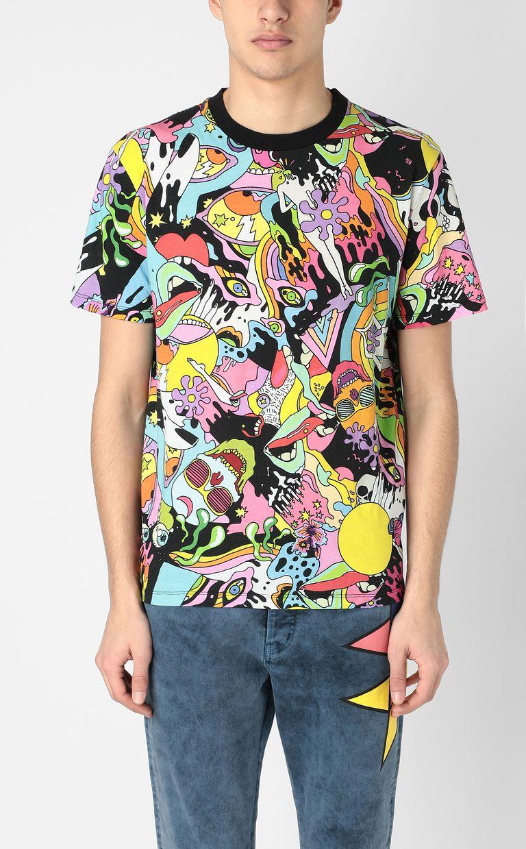 "JUST CAVALLI T-shirt with ""Mash-Up"" print Short sleeve t-shirt Man r"