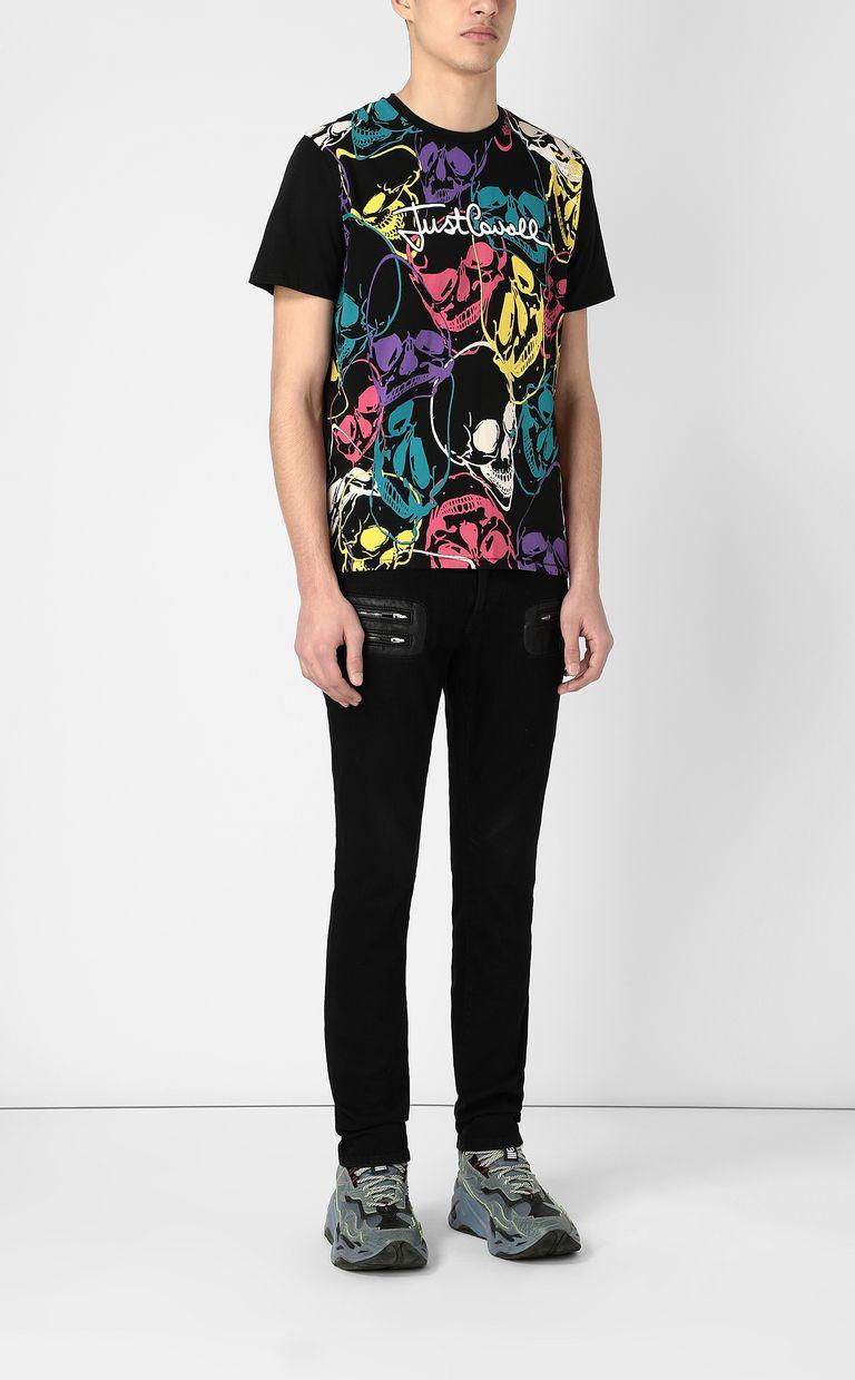 JUST CAVALLI Multicoloured skull-print t-shirt Short sleeve t-shirt Man d