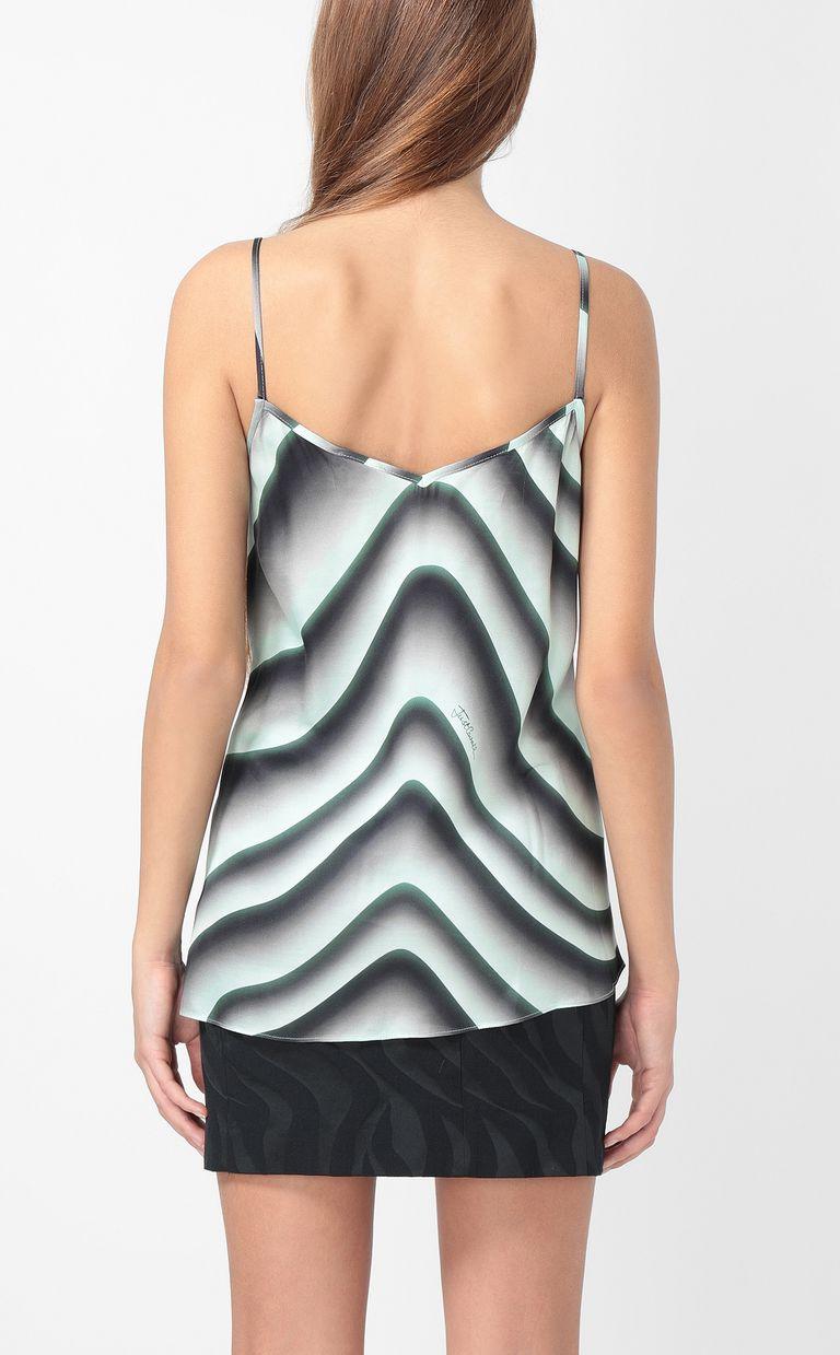 "JUST CAVALLI Asymmetrical ""Sand""-print top Top Woman a"