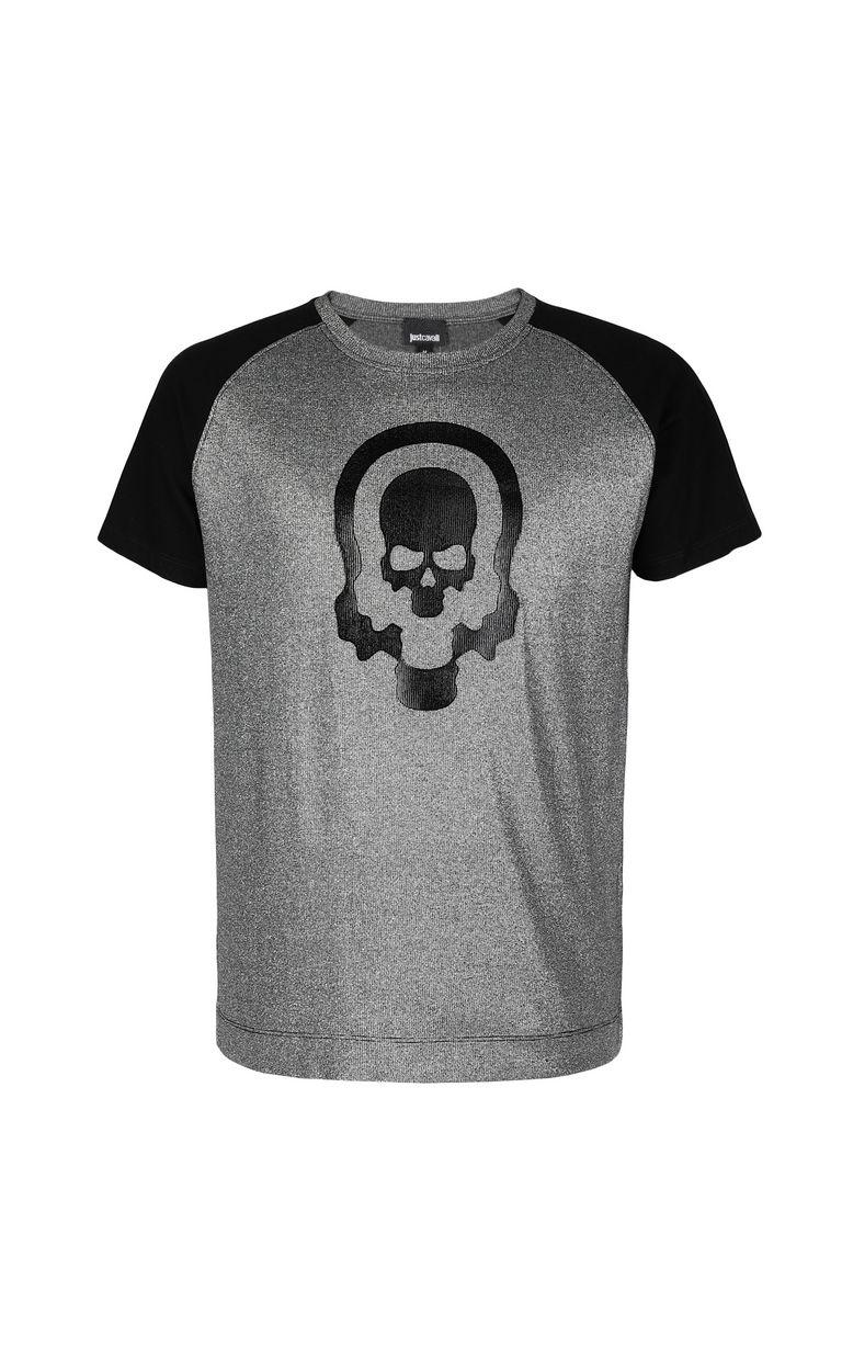 JUST CAVALLI Metallic-effect t-shirt Short sleeve t-shirt Man f