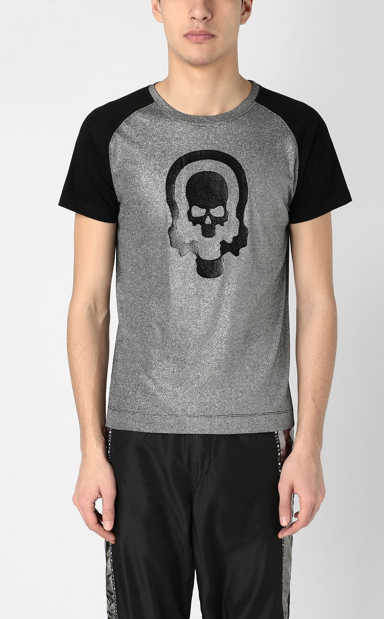 JUST CAVALLI Metallic-effect t-shirt Short sleeve t-shirt Man r