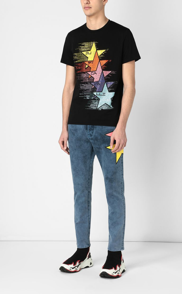 JUST CAVALLI T-shirt with stars print Short sleeve t-shirt Man d
