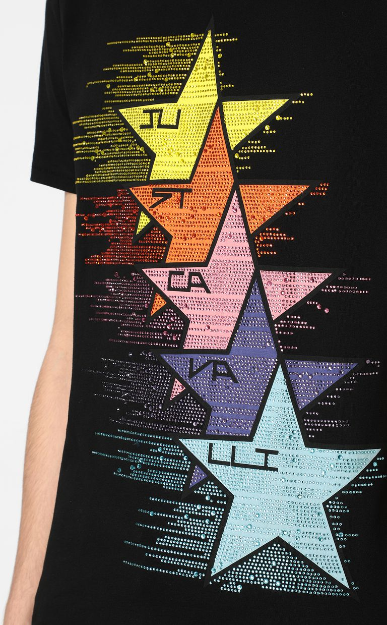 JUST CAVALLI T-shirt with stars print Short sleeve t-shirt Man e