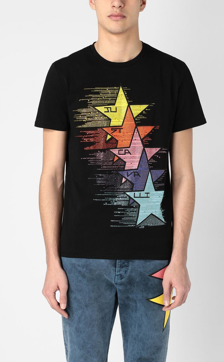 JUST CAVALLI T-shirt with stars print Short sleeve t-shirt Man r