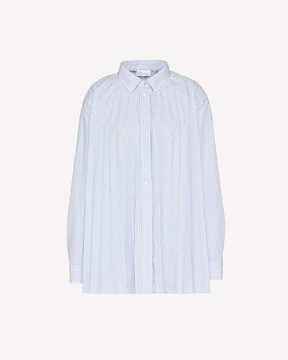 REDValentino Striped cotton pleated shirt