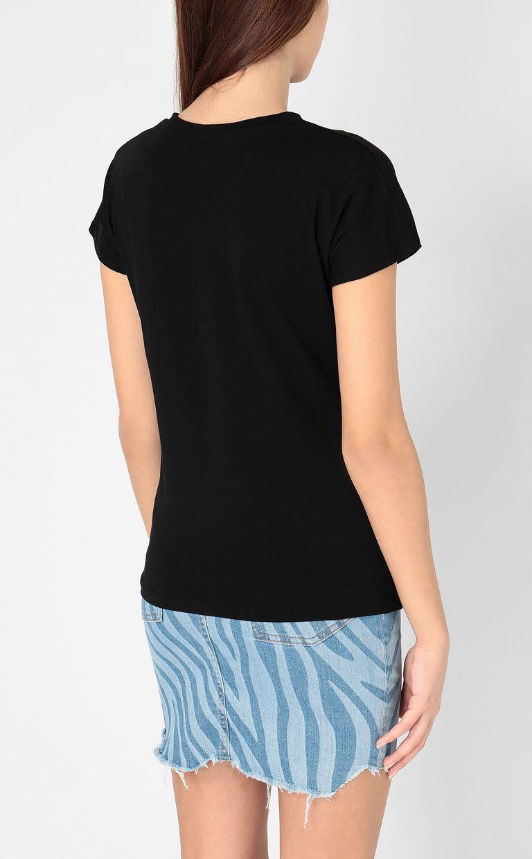 JUST CAVALLI T-shirt with logo print Short sleeve t-shirt Woman d
