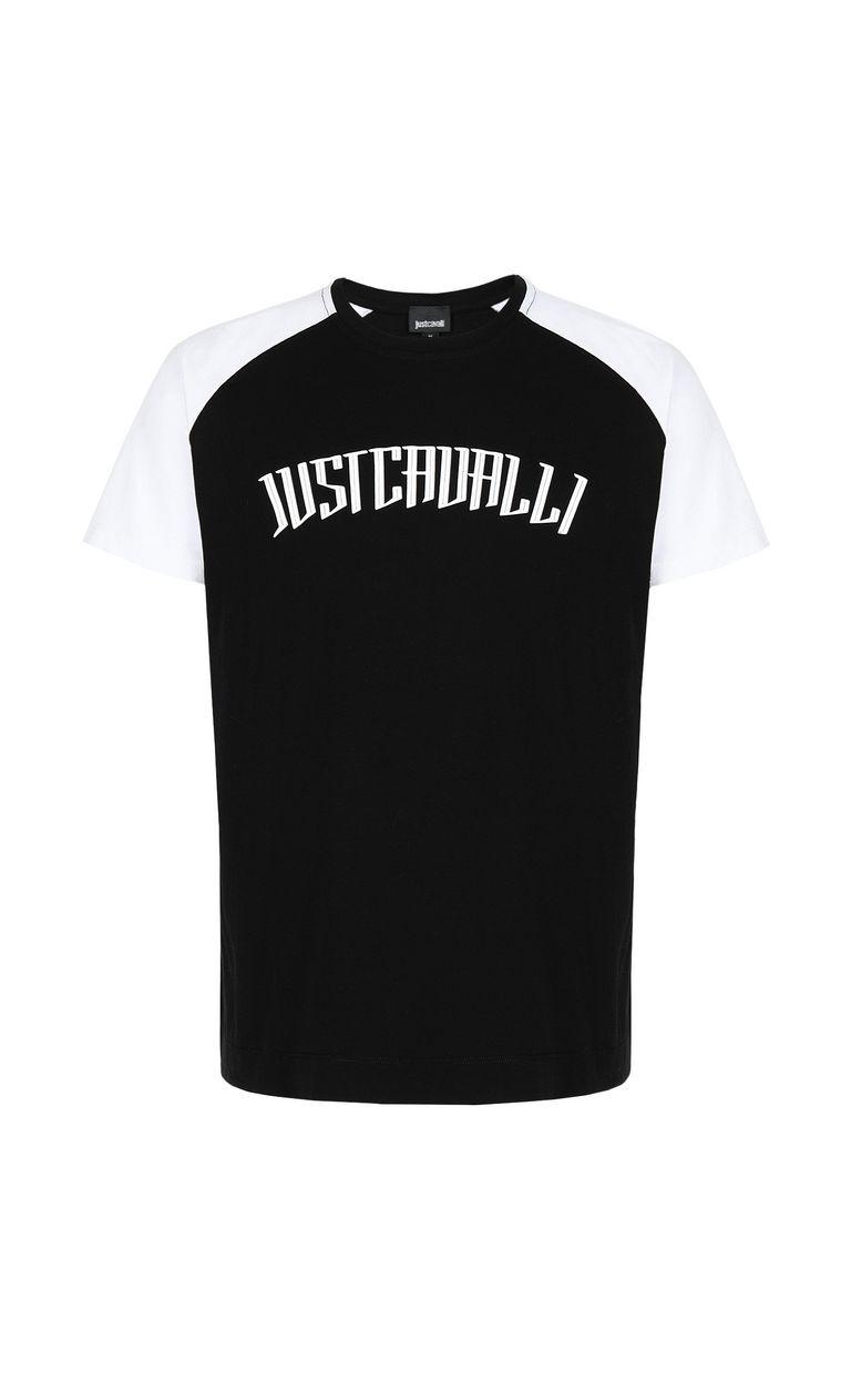 JUST CAVALLI T-shirt with logo print Short sleeve t-shirt Man f