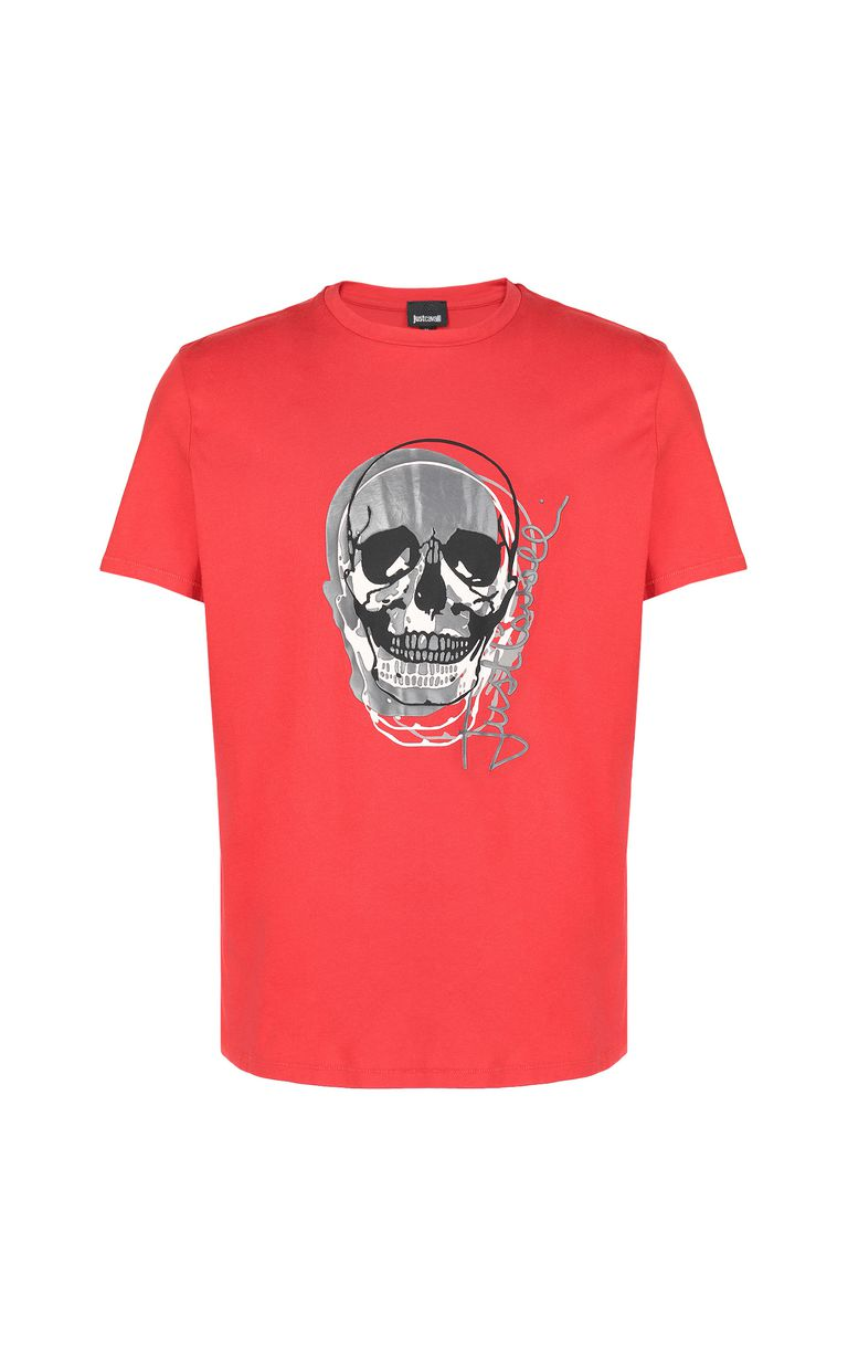 JUST CAVALLI T-shirt with skull Short sleeve t-shirt Man f