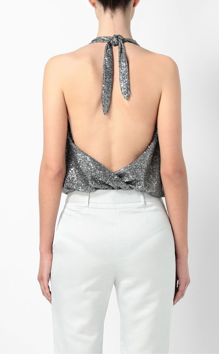 JUST CAVALLI Sequinned bodysuit Top Woman a