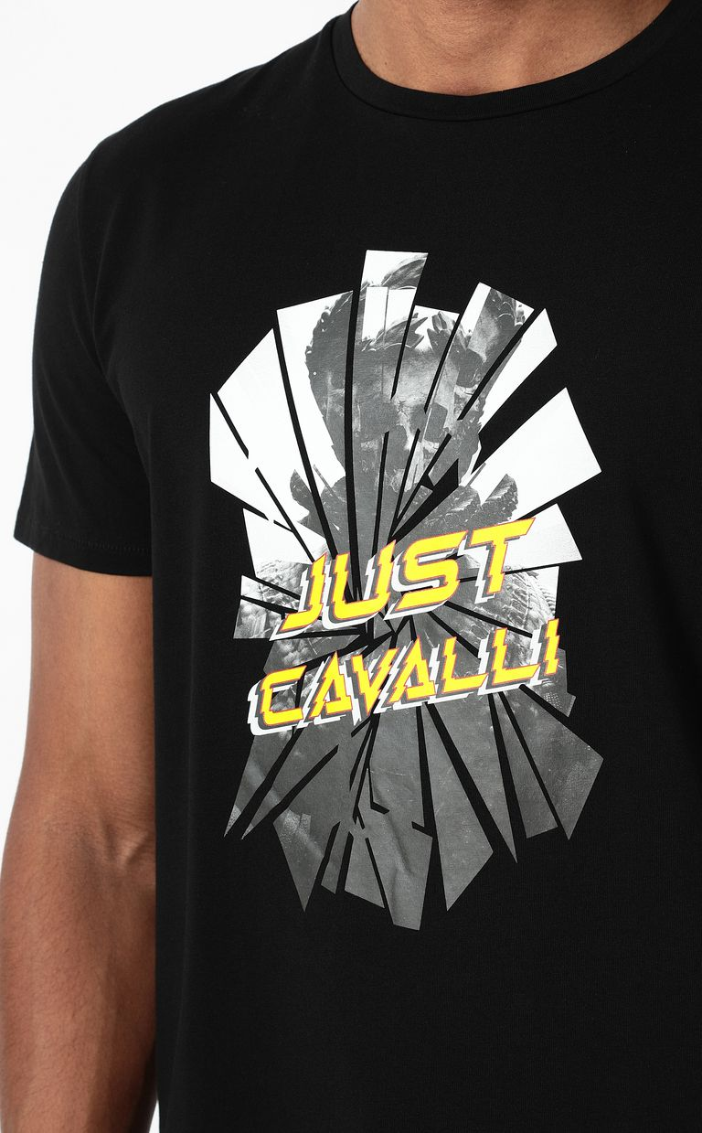 JUST CAVALLI T-shirt with Broken-Mirror print Short sleeve t-shirt Man e