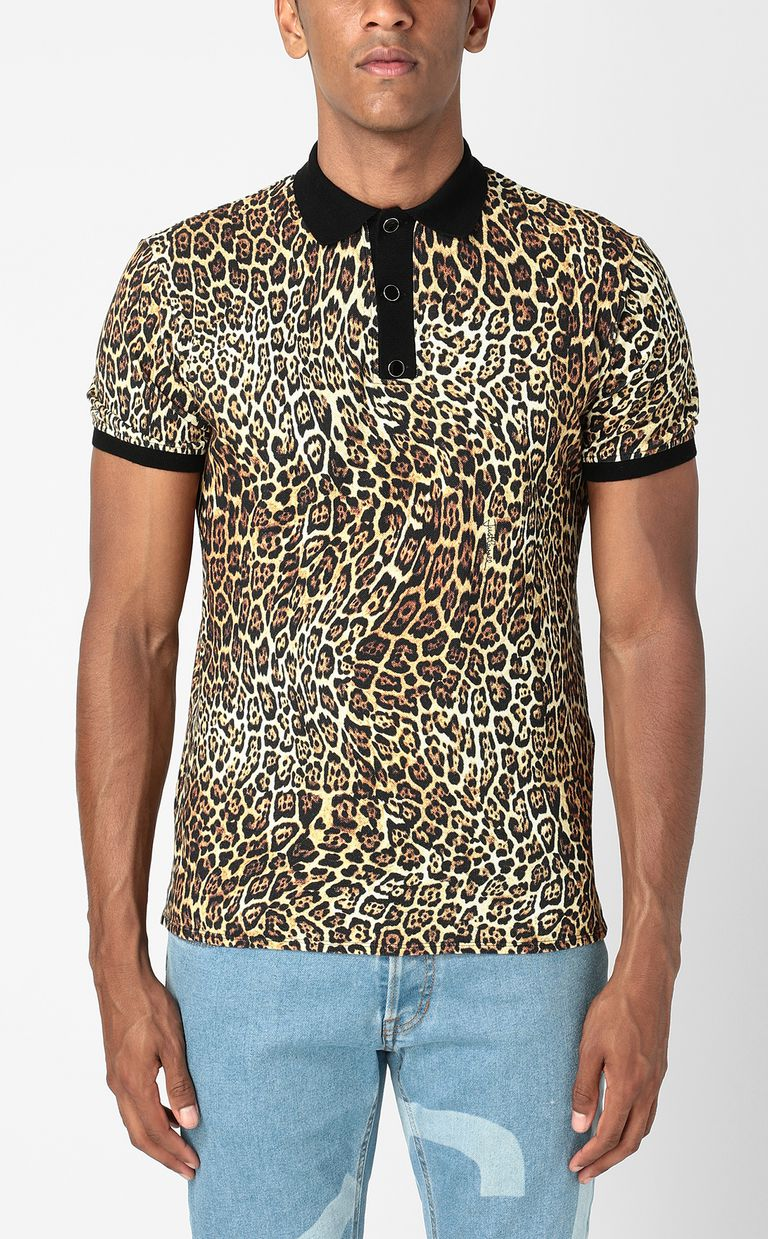 JUST CAVALLI Polo shirt with Dancing-Leo print Polo shirt Man r