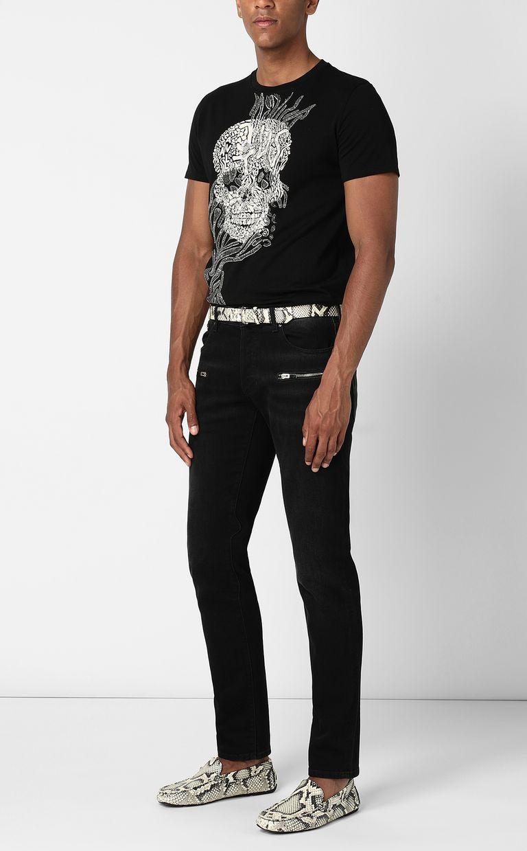 JUST CAVALLI Tribal-Skull print t-shirt Short sleeve t-shirt Man d