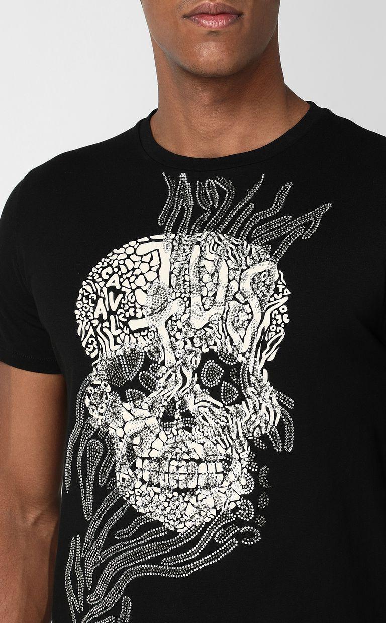 JUST CAVALLI Tribal-Skull print t-shirt Short sleeve t-shirt Man e