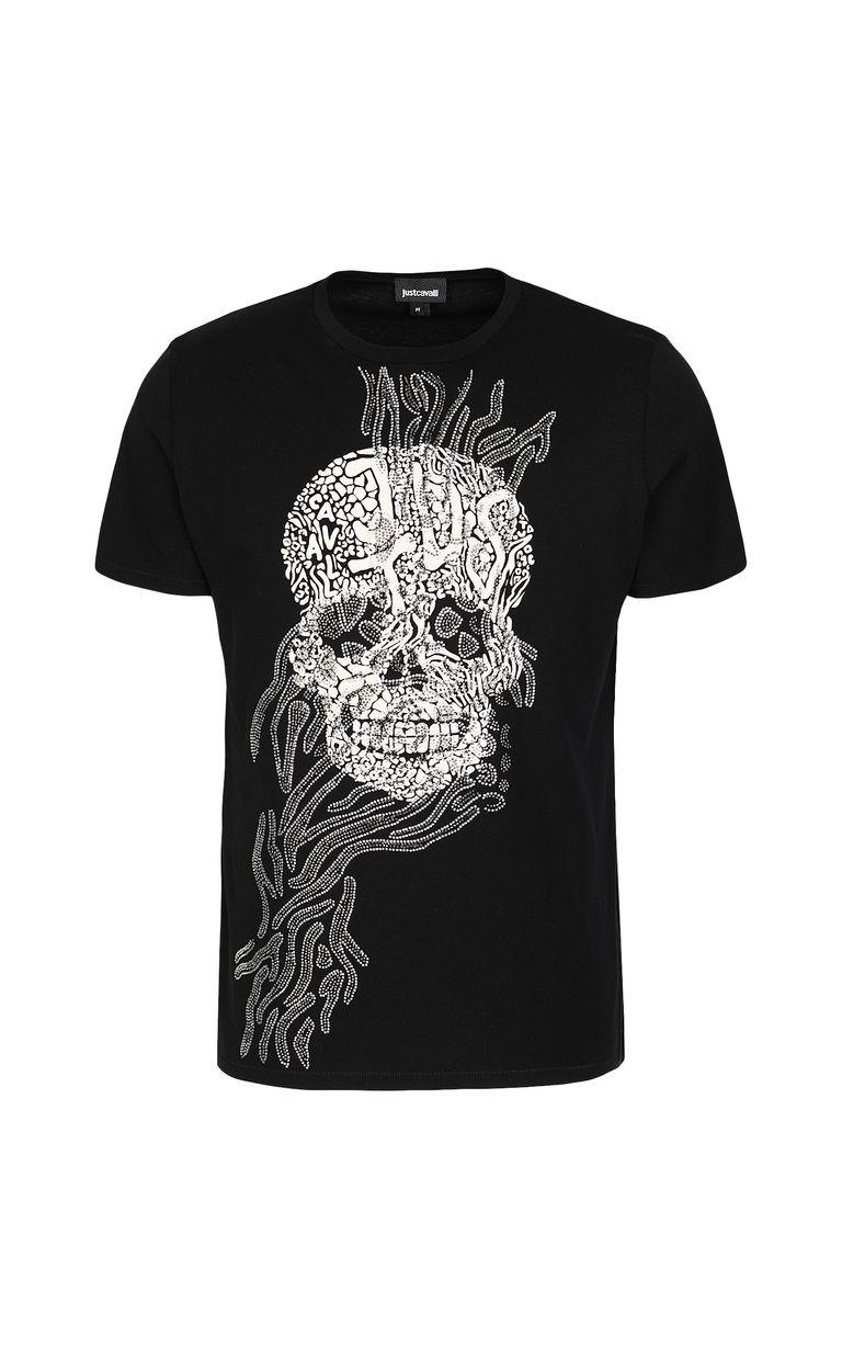 JUST CAVALLI Tribal-Skull print t-shirt Short sleeve t-shirt Man f