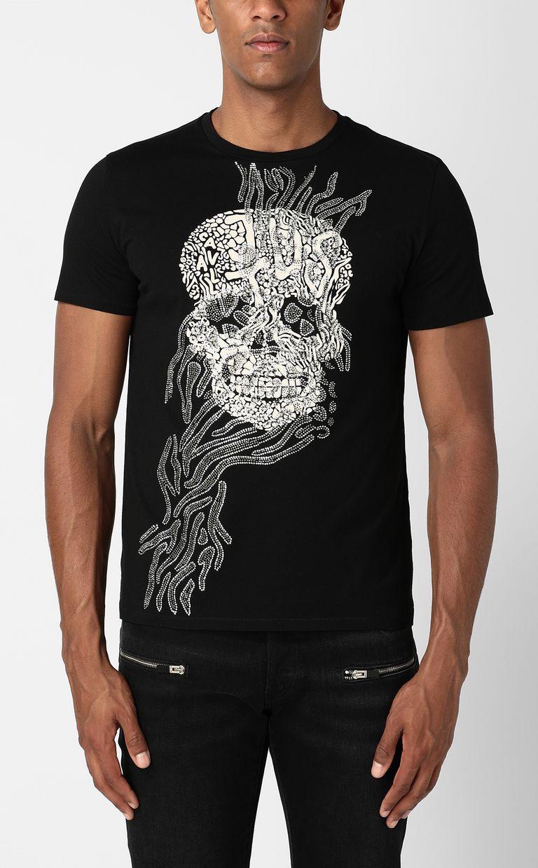 JUST CAVALLI Tribal-Skull print t-shirt Short sleeve t-shirt Man r