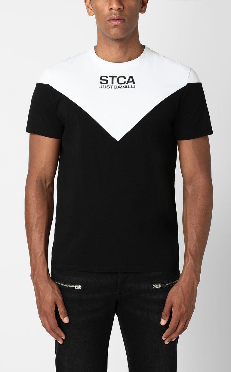 JUST CAVALLI T-shirt with STCA logo Short sleeve t-shirt Man r