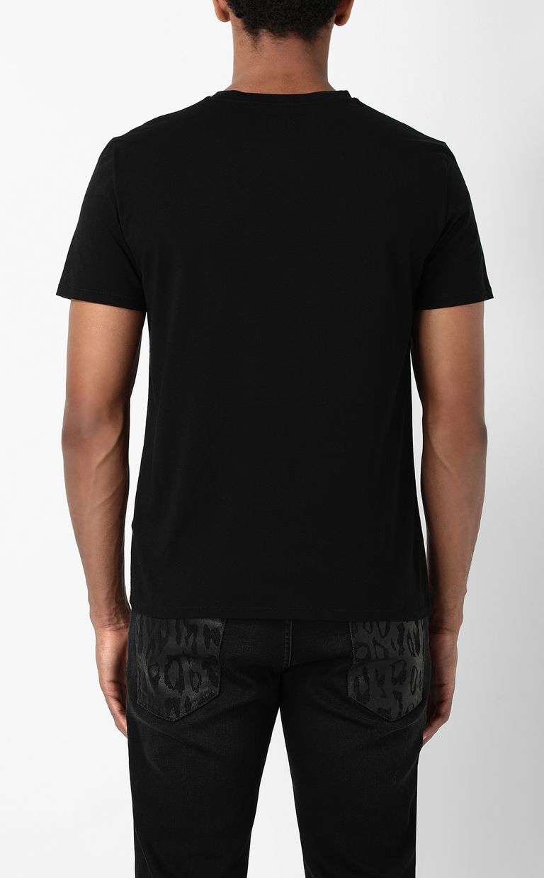 JUST CAVALLI T-shirt with Polygonal Tiger print Short sleeve t-shirt Man a
