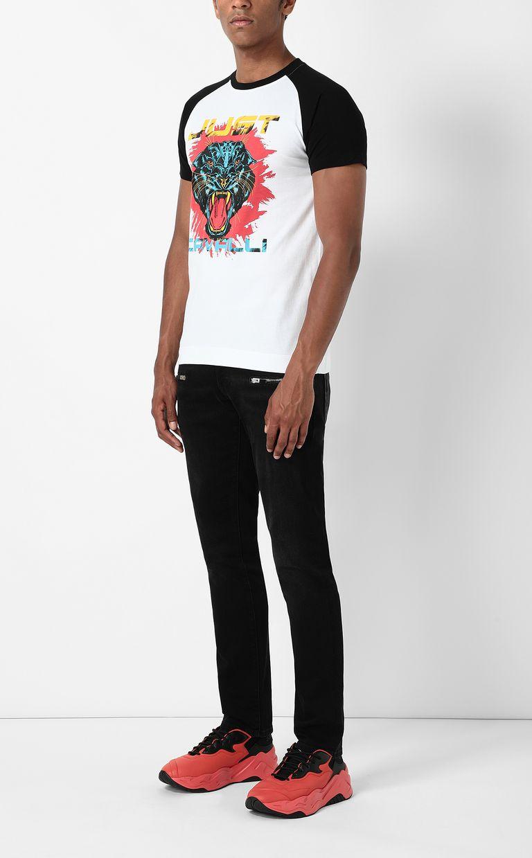 JUST CAVALLI T-shirt with Panther 1970 print Short sleeve t-shirt Man d