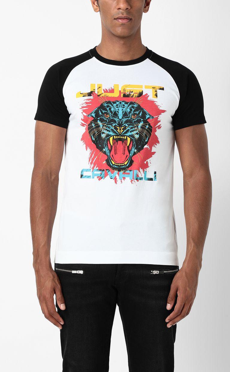 JUST CAVALLI T-shirt with Panther 1970 print Short sleeve t-shirt Man r
