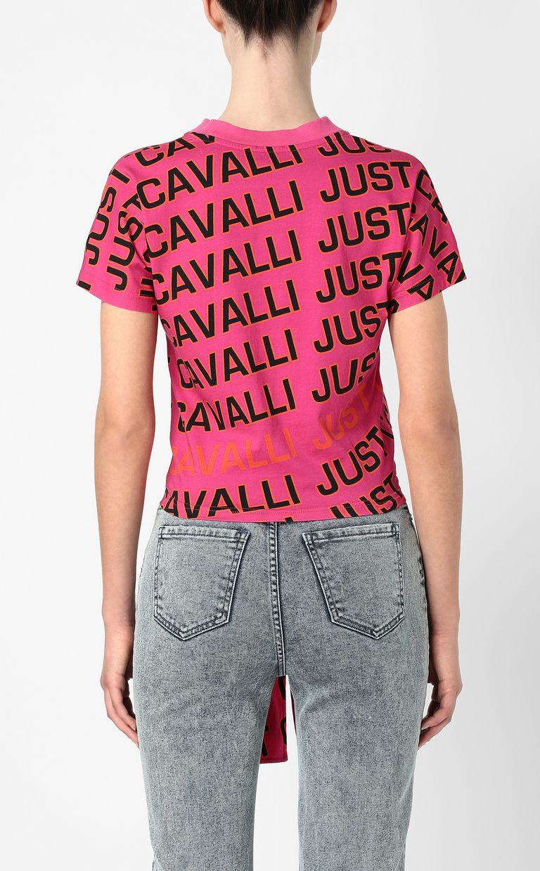 JUST CAVALLI T-shirt with logo Short sleeve t-shirt Woman a