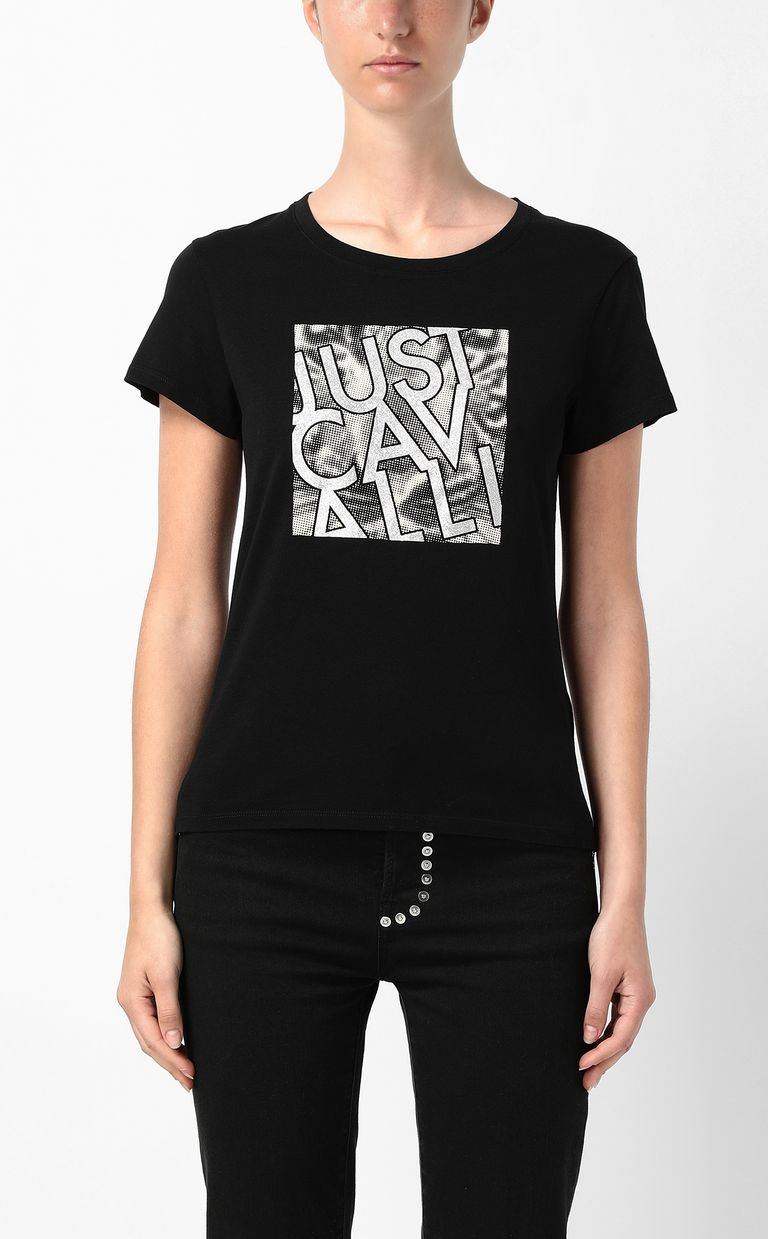 JUST CAVALLI T-shirt with logo Short sleeve t-shirt Woman r