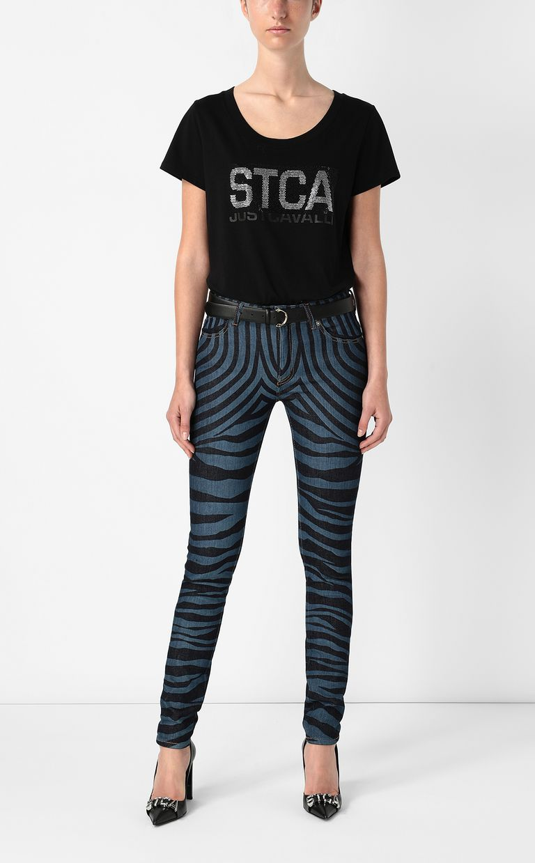 JUST CAVALLI T-shirt with STCA logo Short sleeve t-shirt Woman d