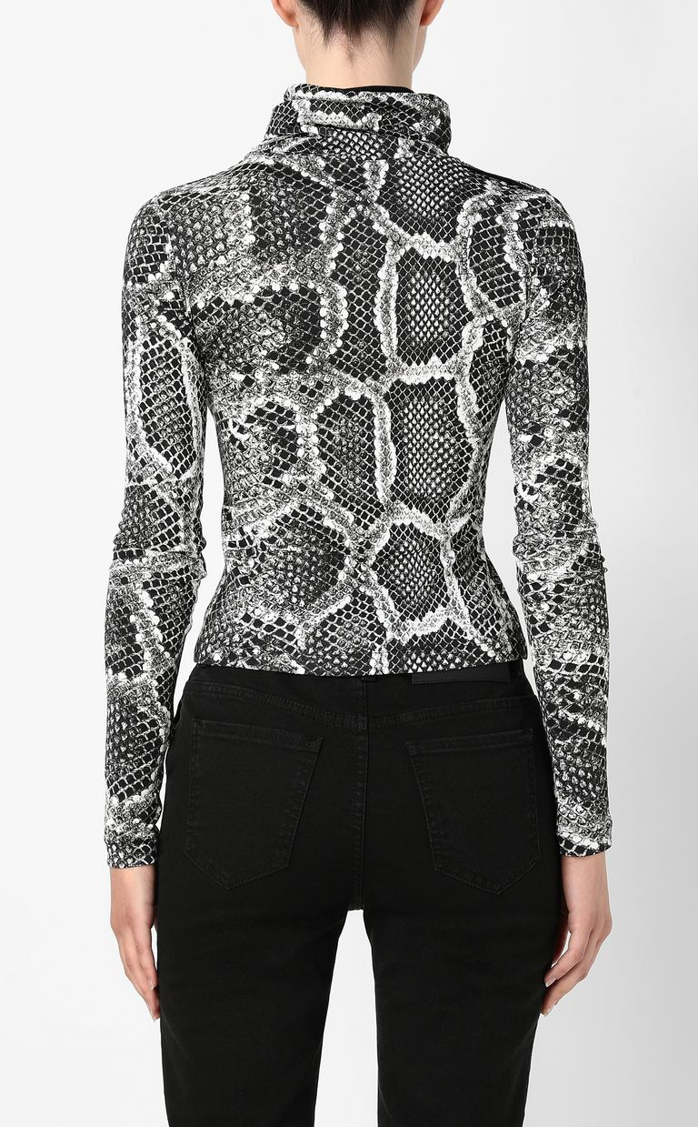 JUST CAVALLI Top with Skin-Python print Top Woman a