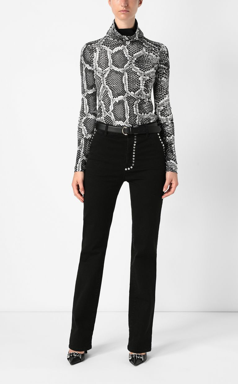 JUST CAVALLI Top with Skin-Python print Top Woman d