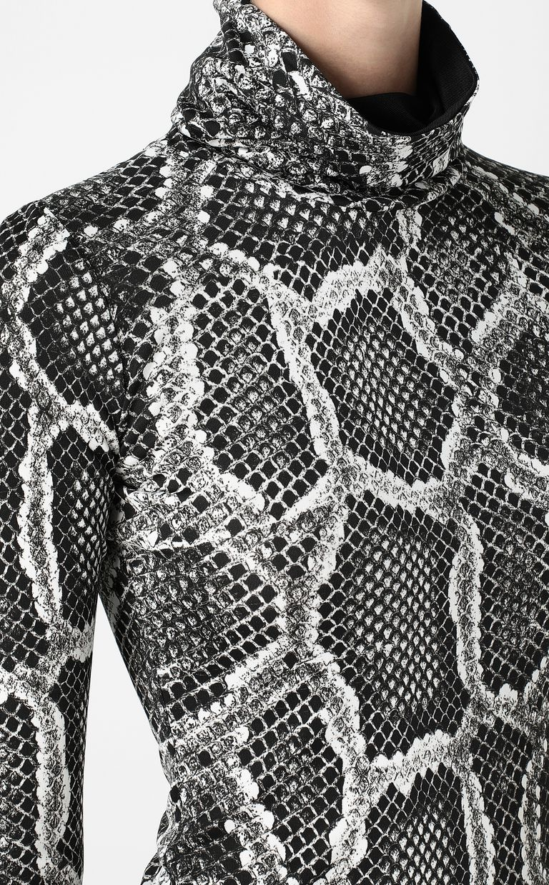 JUST CAVALLI Top with Skin-Python print Top Woman e