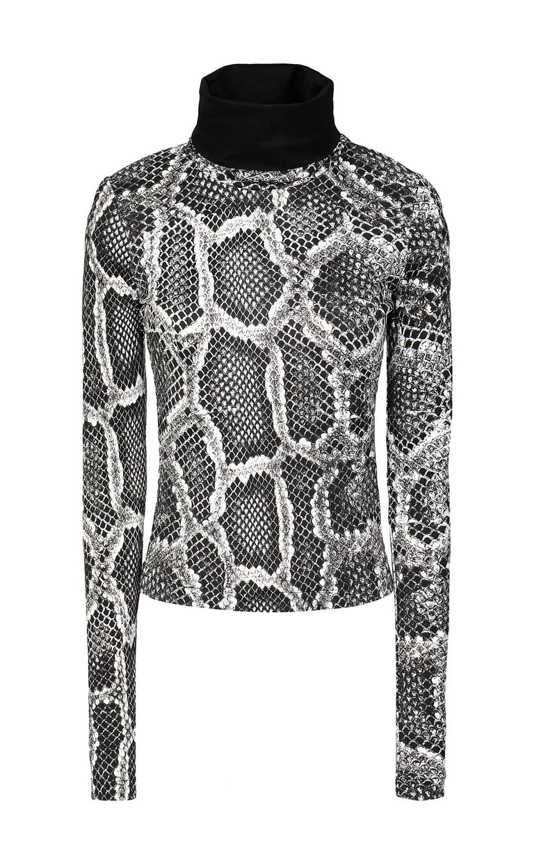 JUST CAVALLI Top with Skin-Python print Top Woman f