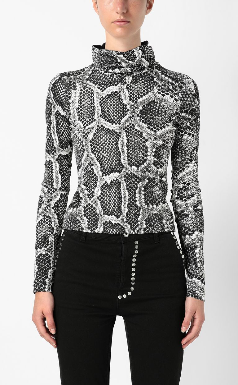 JUST CAVALLI Top with Skin-Python print Top Woman r