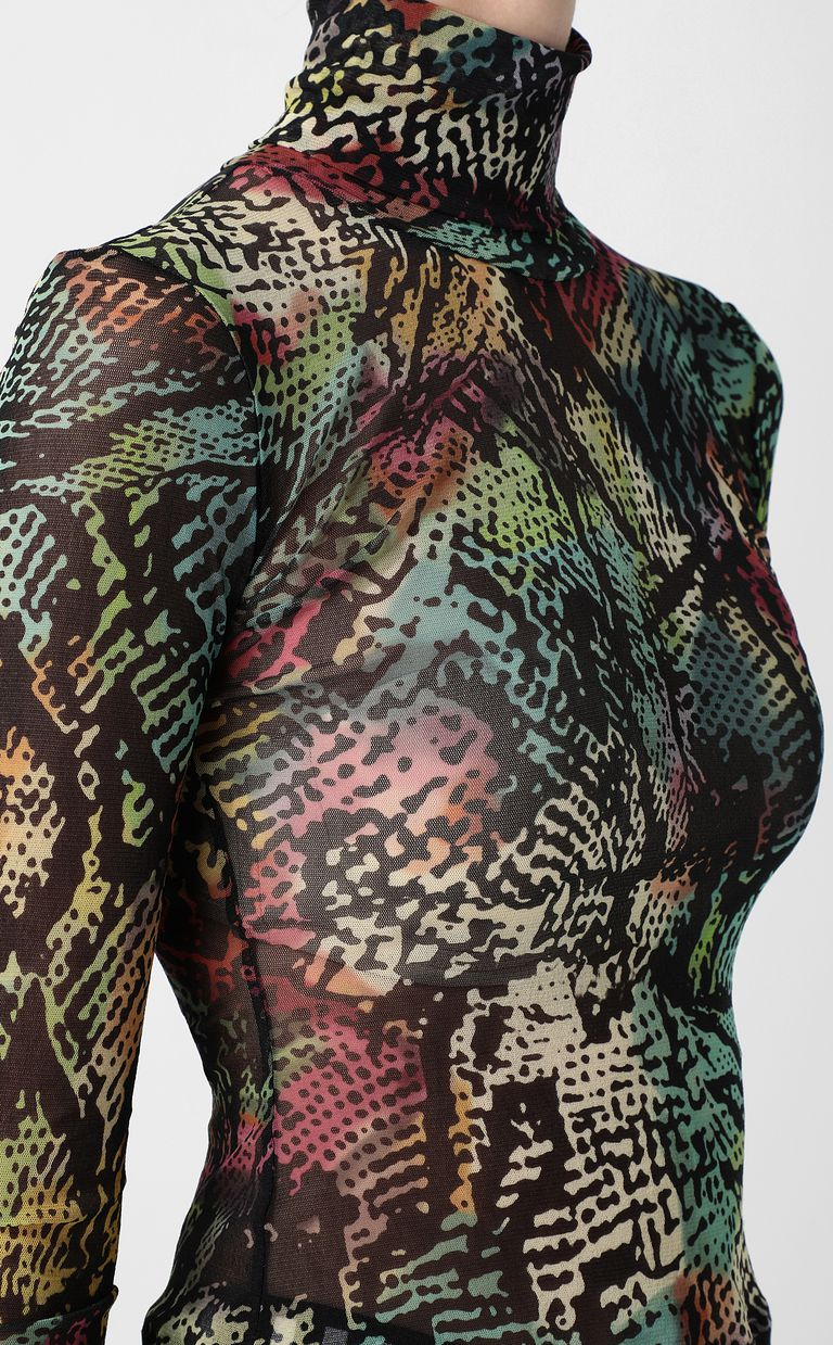 JUST CAVALLI Top with Chameleon-Python print Top Woman e