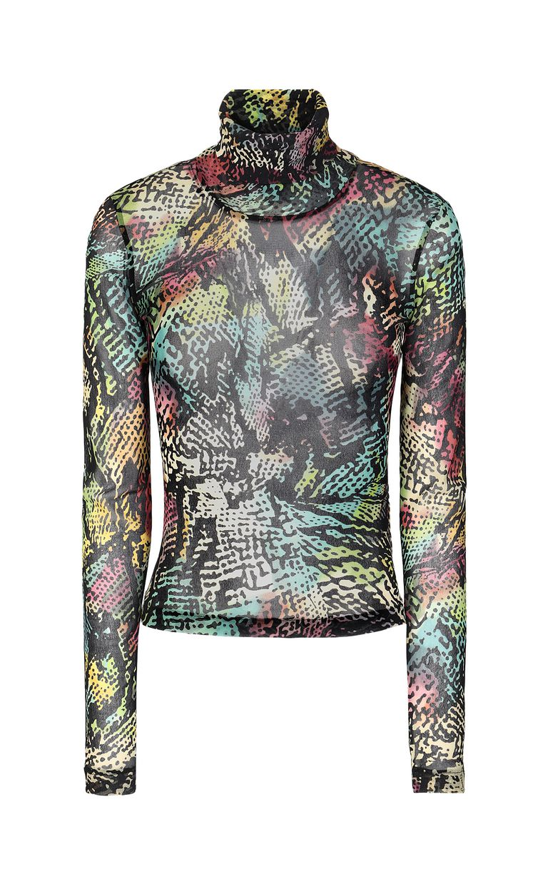 JUST CAVALLI Top with Chameleon-Python print Top Woman f