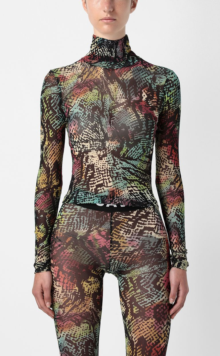 JUST CAVALLI Top with Chameleon-Python print Top Woman r
