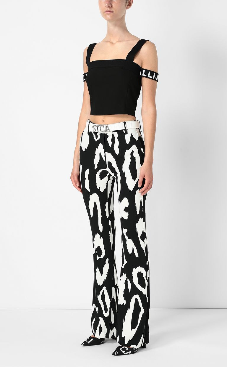 JUST CAVALLI Top with logo tape Top Woman d